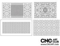 2D 50026 Decorative Download Free Lattice Divider Design Pattern DXF CDR