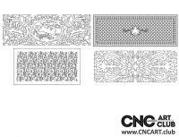 2D 50027 Decorative Download Free Lattice Divider Design Pattern DXF CDR