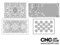 2D 50028 Decorative Download Free Lattice Divider Design Pattern DXF CDR