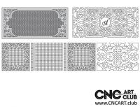 2D 50029 Decorative Download Free Lattice Divider Design Pattern DXF CDR