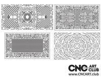 2D 50030 Decorative Download Free Lattice Divider Design Pattern DXF CDR