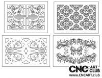 2D 50031 Decorative Download Free Lattice Divider Design Pattern DXF CDR