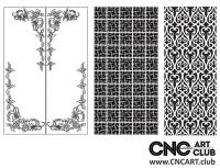 2D 50032 Decorative Download Free Lattice Divider Design Pattern DXF CDR