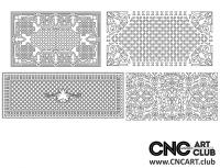 2D 50035 Decorative Download Free Lattice Divider Design Pattern DXF CDR