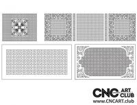 2D 50036 Decorative Download Free Lattice Divider Design Pattern DXF CDR