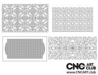 2D 50041 Huge Bundle Decorative Download Free Lattice Divider Design Pattern DXF CDR