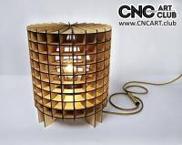 2D 60008 Cylindric Style Wooden Lamp DXF CDR Plan For Laser And Cnc Machine Works