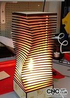 2D 60009 Modern Building Wooden Lamp DXF CDR Plan For Laser And Cnc Machine Works