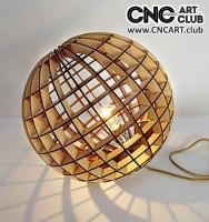 2D 60011 Circle Baloon Wooden Lamp DXF CDR Plan For Laser And Cnc Machine Works