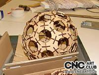 2D 60015 Circle Death Star Wooden Lamp DXF CDR Plan For Laser And Cnc Machine Works