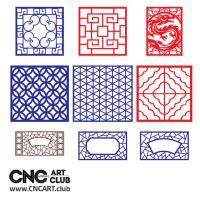 2d Lattice 1003 CNC Cut Decorative Lattice DXF Patters Kit For Cnc Machining