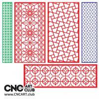 2d Lattice 1005 Decorative Floral Lattice Devider Vector Design For Cnc