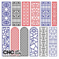 2d Lattice 1013 CNC Woodworking File DXF Plan Cut Decorative Lattice Devider