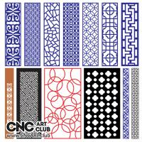 2d Lattice 1014 Free Vector CNC Woodworking File DXF Plan Cut Decorative Lattice Devider