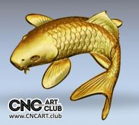 3D 10002 Fish 3D Stl File For CNC 3D Cutting Download Free