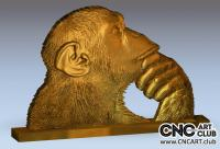 3D 10003 Thinking Ape 3D Slt File To Download For CNC Carving