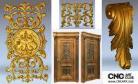 3D 110007 DEcorative Designs For Door STl File For Download
