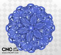 3D 20003 Decorative Flowers STL File Or CNC Carving Download
