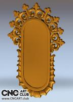 Decorative mirror frame - 3D STL file for CNC woodworking