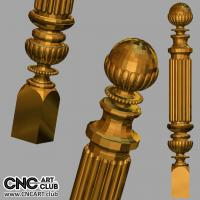 3D 20017 Elegant Decorative Column Design For CNC 360 Degree Woodworking