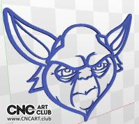 3D 30001 StarWars Yoda 3D Relief For Cnc Cutting