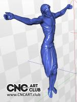 3D 40001 Jesus Christ 3D STL File For CNC Cutting