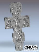 3D 40002 Christian Cross With Jesus STL File To Download