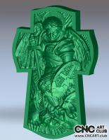 3D 40005 Christian Angel Fighing With Demons 3D STL File For CNC Carving