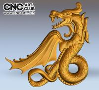 3D 60002 Chinese Dragon 3D STL File For CNC Carving Download