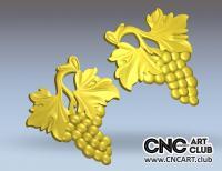 3D 90001 Download FRee STL Files For CNC Work. Grape 3d Model
