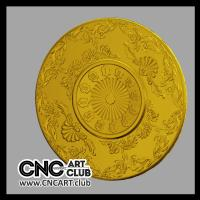 3d Clocks 102 Round Clock Design With Flowers And Numbers Download Files For Cnc Carving