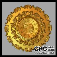 3dclock 1001 Decorative 3d Clock Design For Cnc Machine
