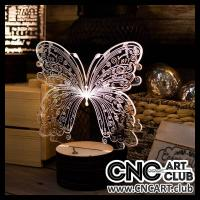 Download FREE 3D led light design with Butterfly