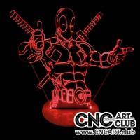 LED 1005 DIY Deadpool 3d Light Design Laser Engraing