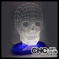 LED 1011 Human Skull 3d Design For Eon 3d Light Led Lamp