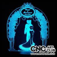 LED 1015 Wedding Arc Design For Laser Engraving Led Light Lamp
