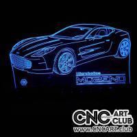LED 2020 Aston Martin Car Laser Engraving File For 3d LEd Light