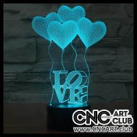 LED 2022 Heart Shaped Baloons For Laser Engraving  3d Led Light