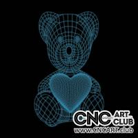 LED 2023 Teddy Bear 3d Design For Neon Led Light