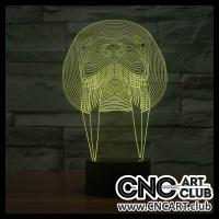 LED 2024 Sea Lion Head Neon Light 3d Image For Laser Engraving And Cutting