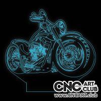 LED 2025 Harley Davidson Motocycle Design For Led Table Desk 3d Light