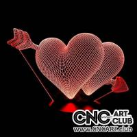 LED 2027 3d Heart Design For Laser Cutting And Engraving Download Dxf