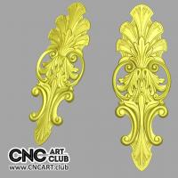 Overlay 1002 Decorative Floral Overlay 3D STL File For CNC Woodworking
