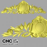 Overlay 1004 DEcorative Overlay With Leaves And Sheet STL 3d File For CNC