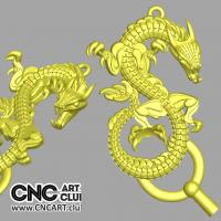 Overlay 1005 Scary Dragon Overlay STL 3d File For CNC