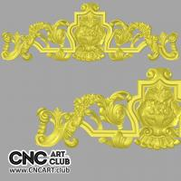 Overlay 1006 Antique Style Overlay STL 3d File For CNC Woodworking