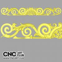 Overlay 1007 Antique Overlay 3D STL File For CNC Machining