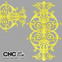 Overlay 1008 Classic Antique Overlay 3D STL File For CNC 3D Woodworking