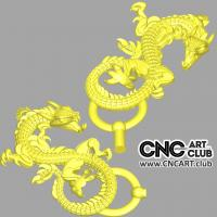 Scary dragon 3d model for decorative overlays