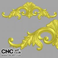 Antique classic overlay design to cut in CNC machine